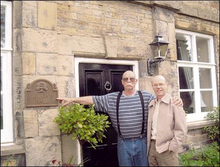 Rod Dalton His Distant English Cousin John At Bispham Hall In Green Near The Little Village Of Lancashire England June 2003