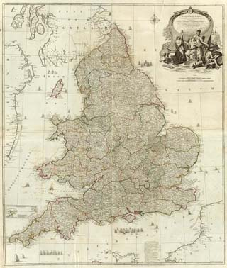 1790 Map of England & Wales