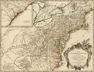 1755 Map of the USA