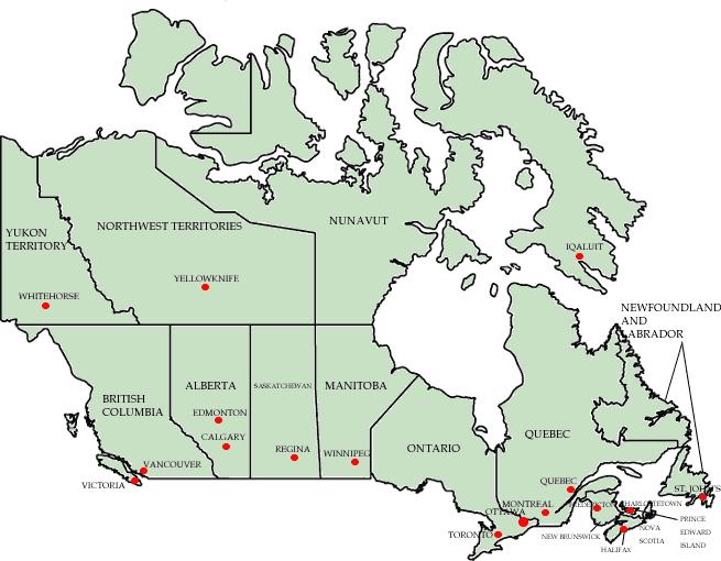 provinces in canada. Provinces of Canada: