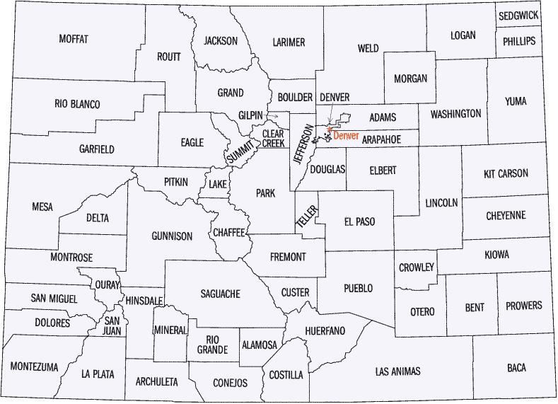 Image Result For Denver County Map
